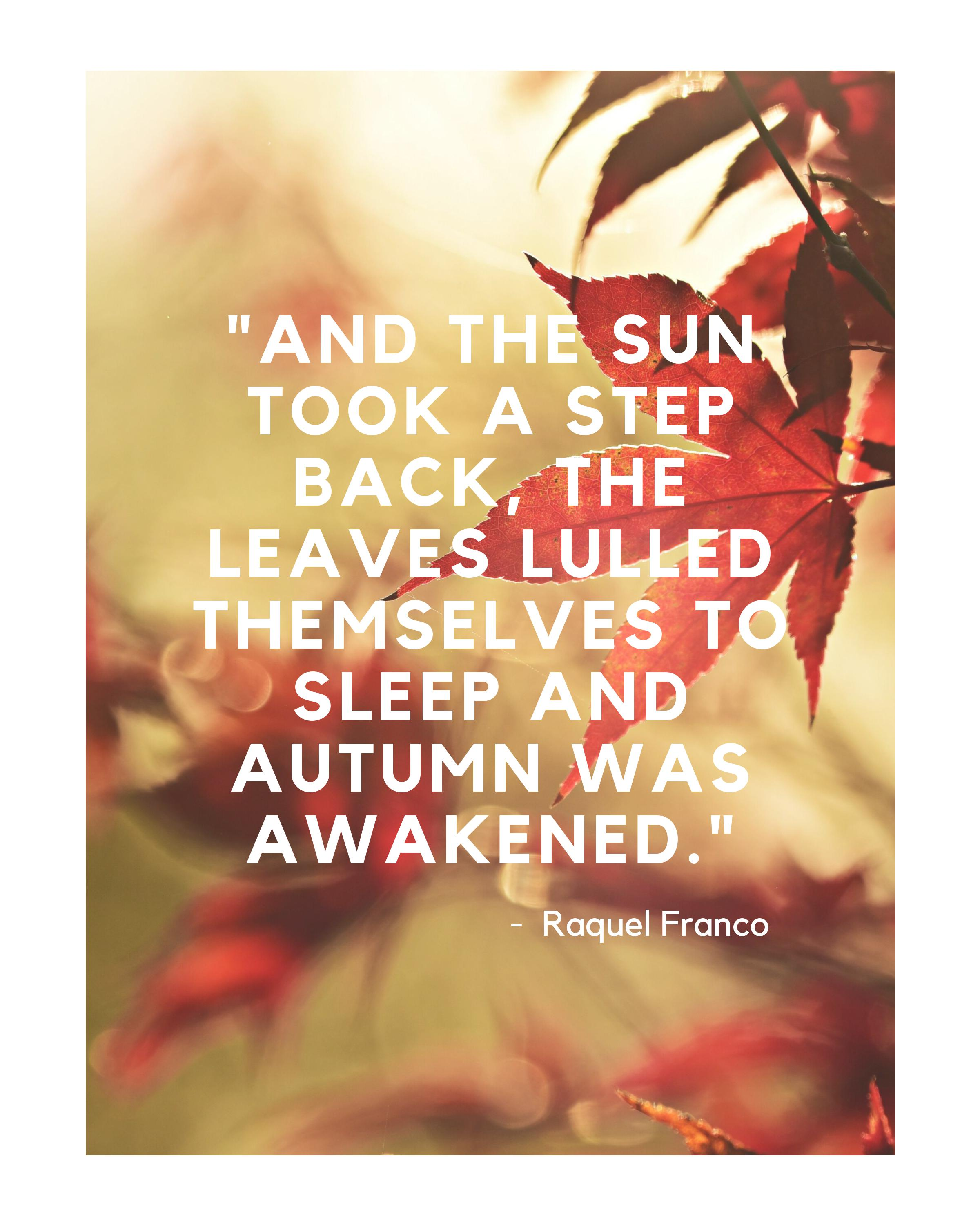 15 Inspirational Quotes About Fall - Blu Nest Bloom